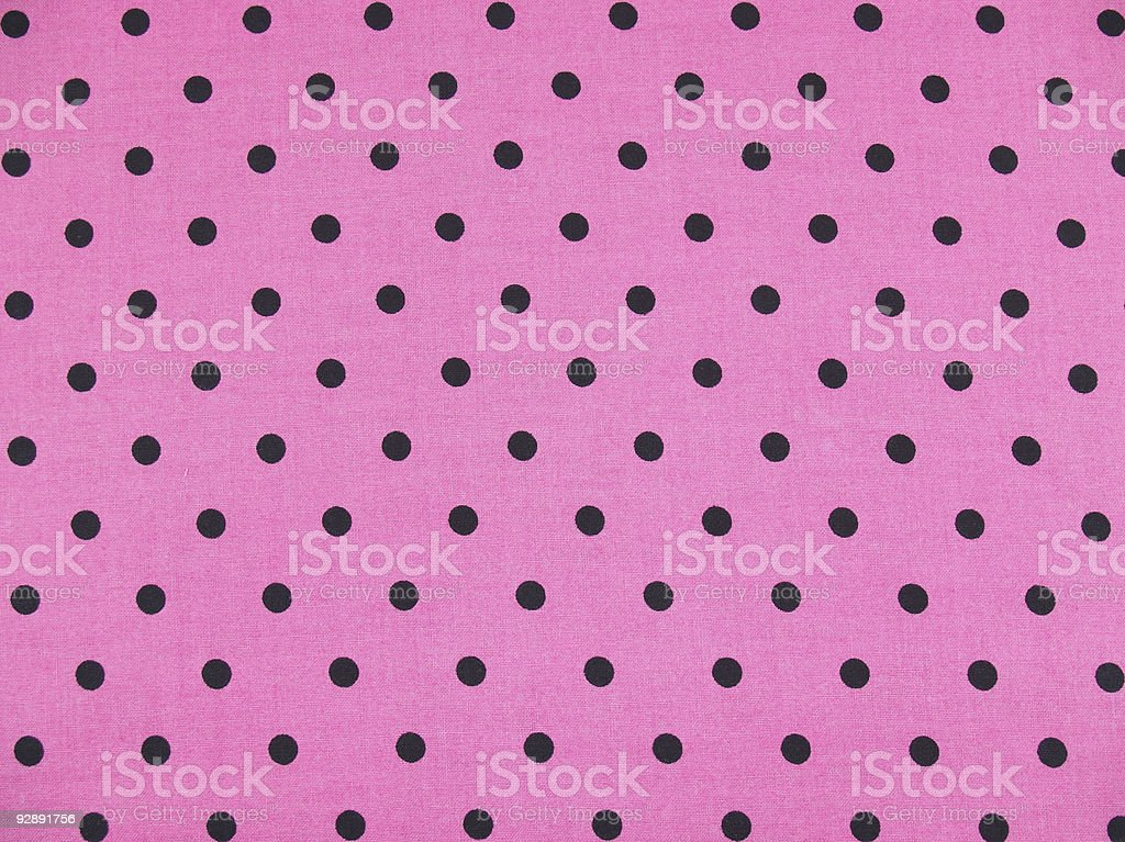 Pink with Black  Polka Dots royalty-free stock photo