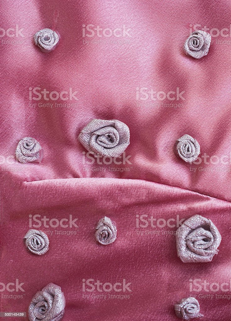 Pink  with silver roses royalty-free stock photo