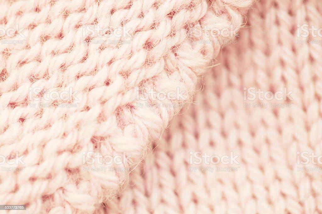 Pink wool textile stock photo