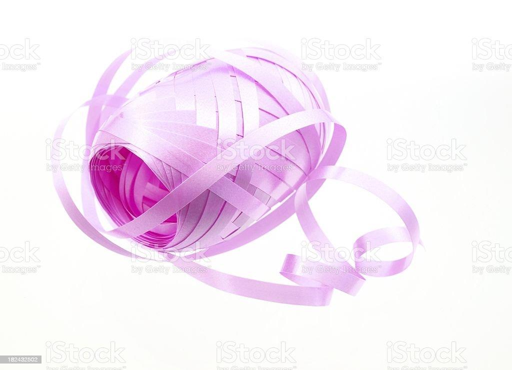 Pink wrapping ribbon royalty-free stock photo