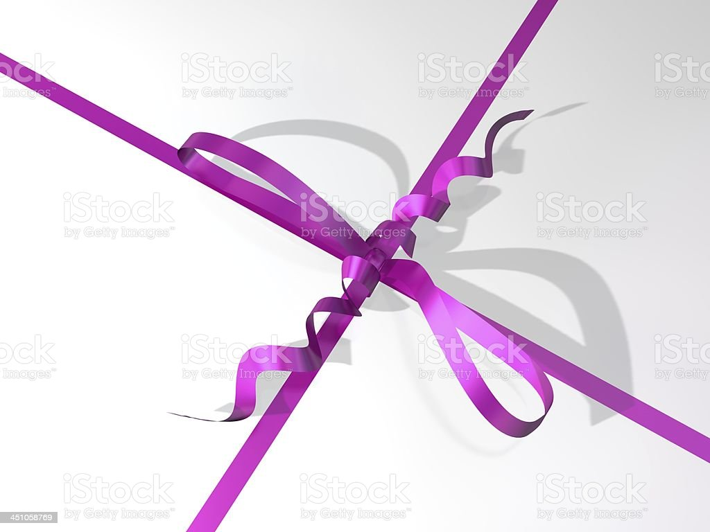 pink-colored ribbon and bow of a gift box royalty-free stock photo