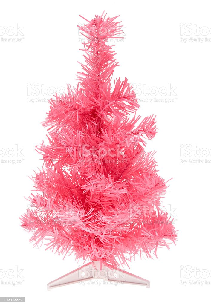 pinker Kustweihnachtsbaum stock photo