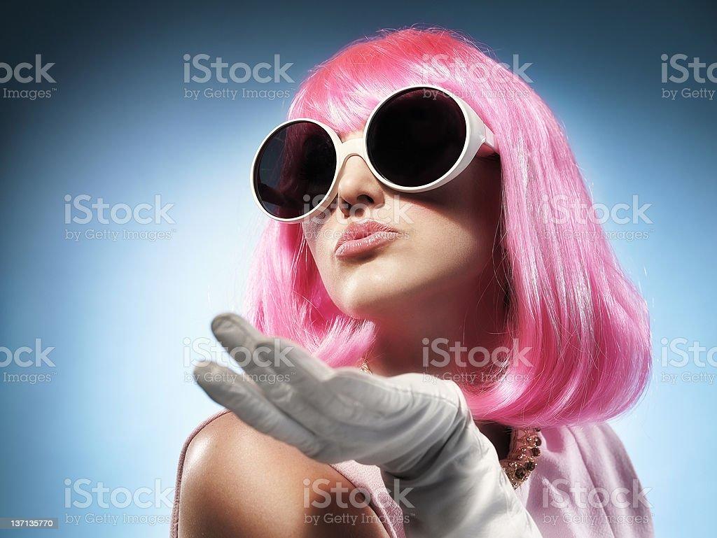 PinkKiss royalty-free stock photo