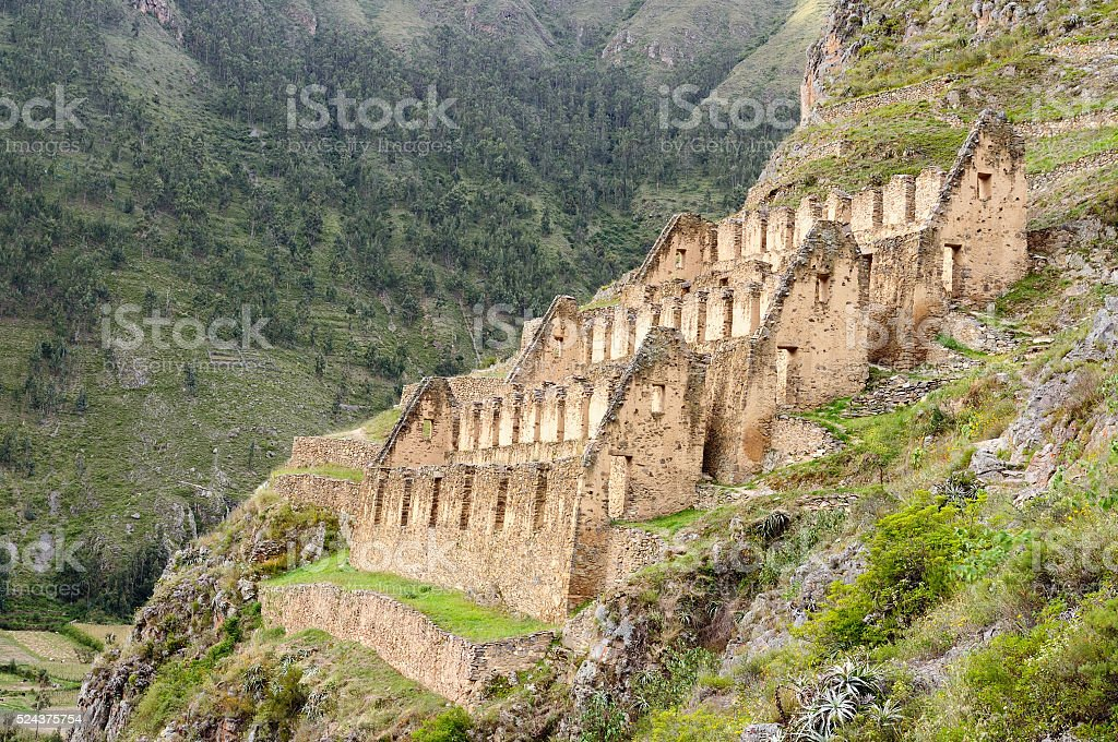 Pinkulluna Inca ruins near Cusco stock photo