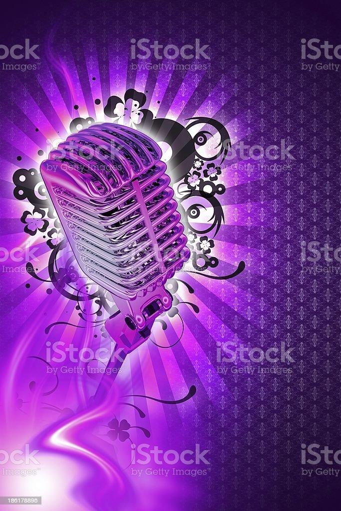 Pinky Karaoke Design royalty-free stock photo