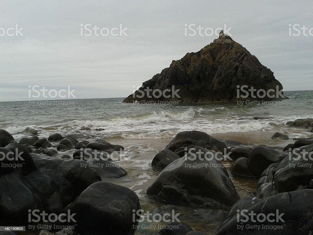 pinnacle at sea stock photo