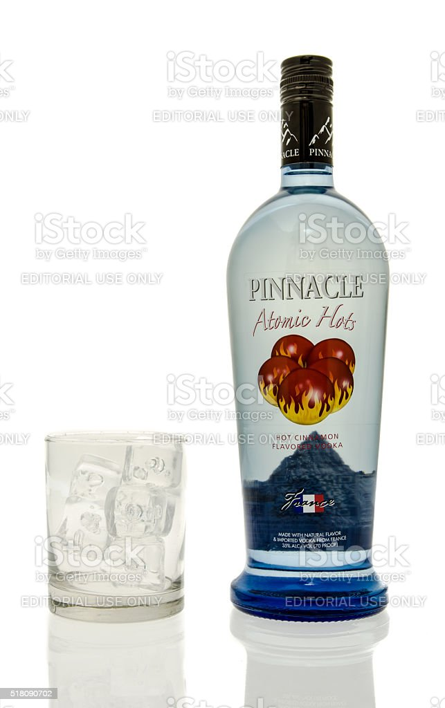 Pinnacle Atomic Hots Vodka stock photo