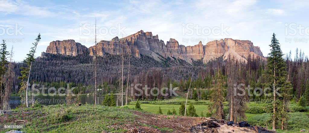 Pinnacle Buttes Togwotee Pass Wyoming Washakie Wilderness stock photo