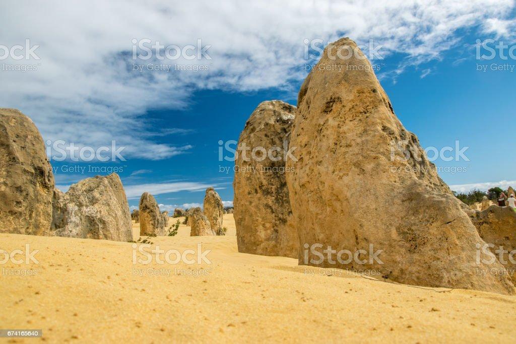 Pinnacle desert in Nambung National Park, Western Australia stock photo