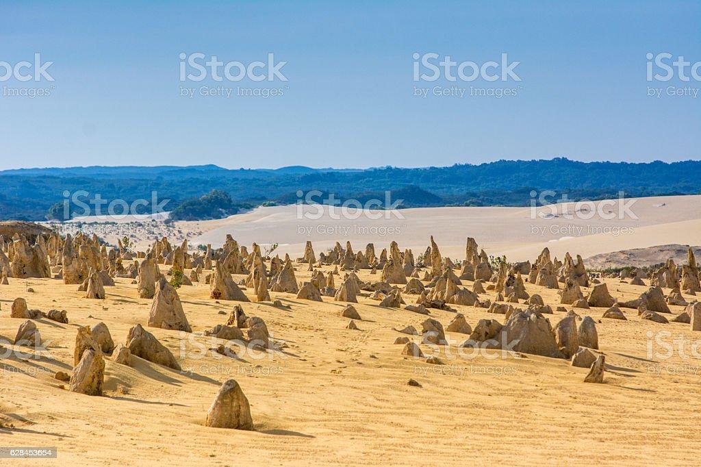 Pinnacle Desert. Landscape of natural travel in western australia stock photo