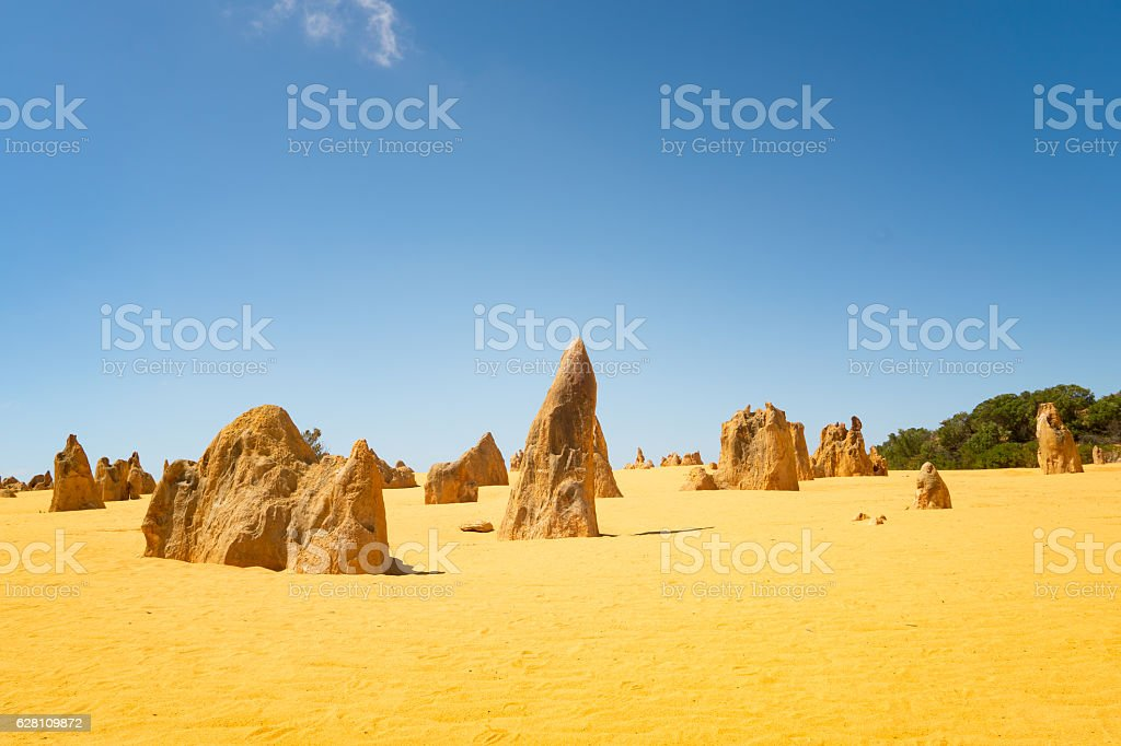 Pinnacles at Namburg National Park, Cervantes, Western Australia stock photo