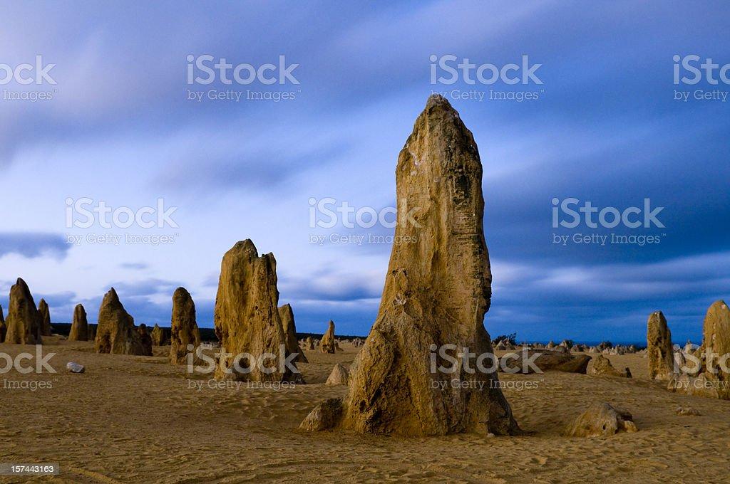 Pinnacles dawning stock photo