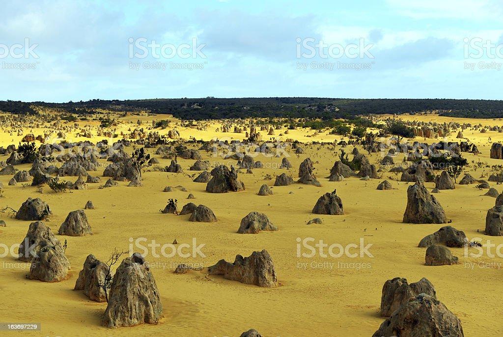 Pinnacles Desert, Australia royalty-free stock photo