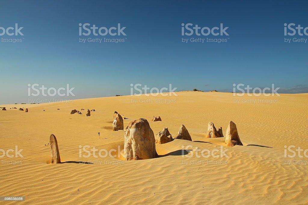 Pinnacles Desert in Australia stock photo
