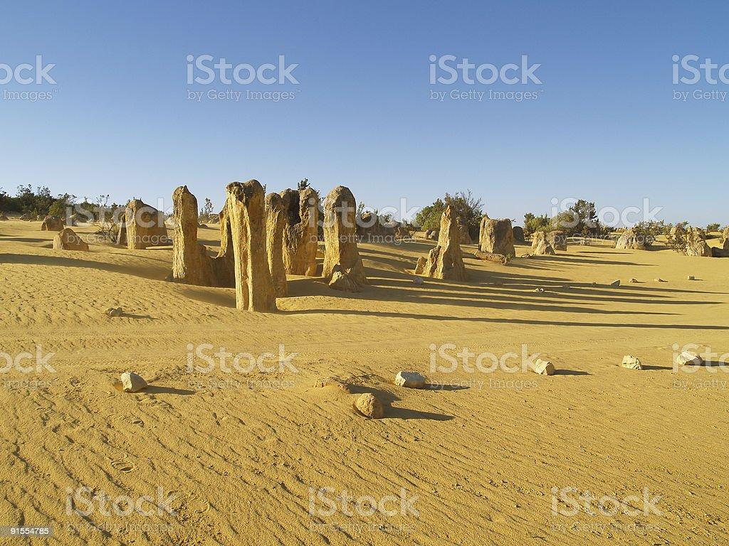 Pinnacles desert in western australia stock photo