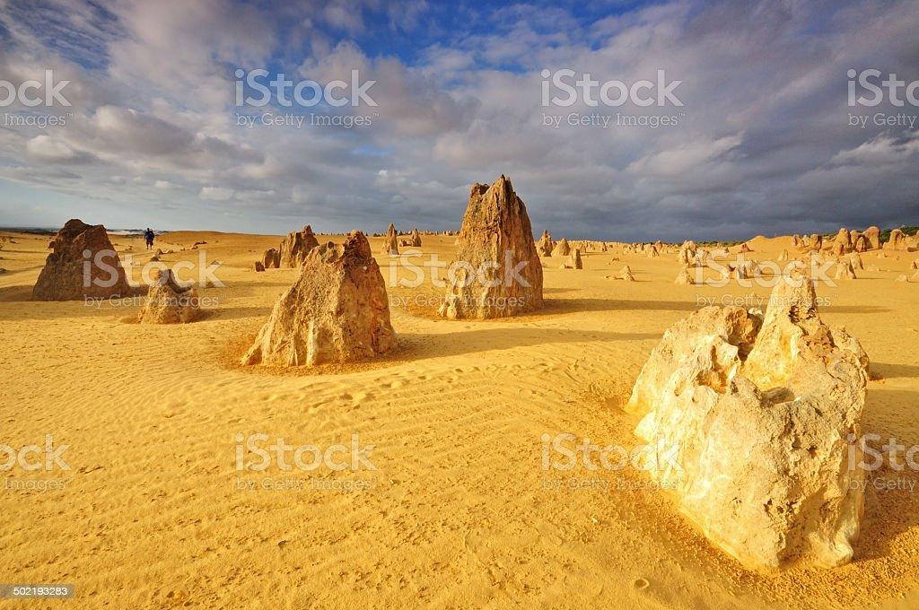 Pinnacles Desert in Westerrn Australia stock photo