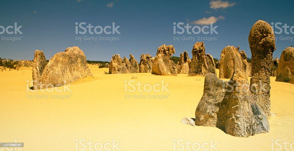 Pinnacles Desert Panorama stock photo