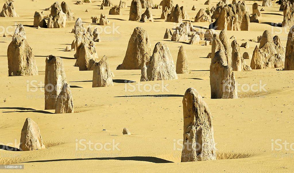 Pinnacles desert royalty-free stock photo