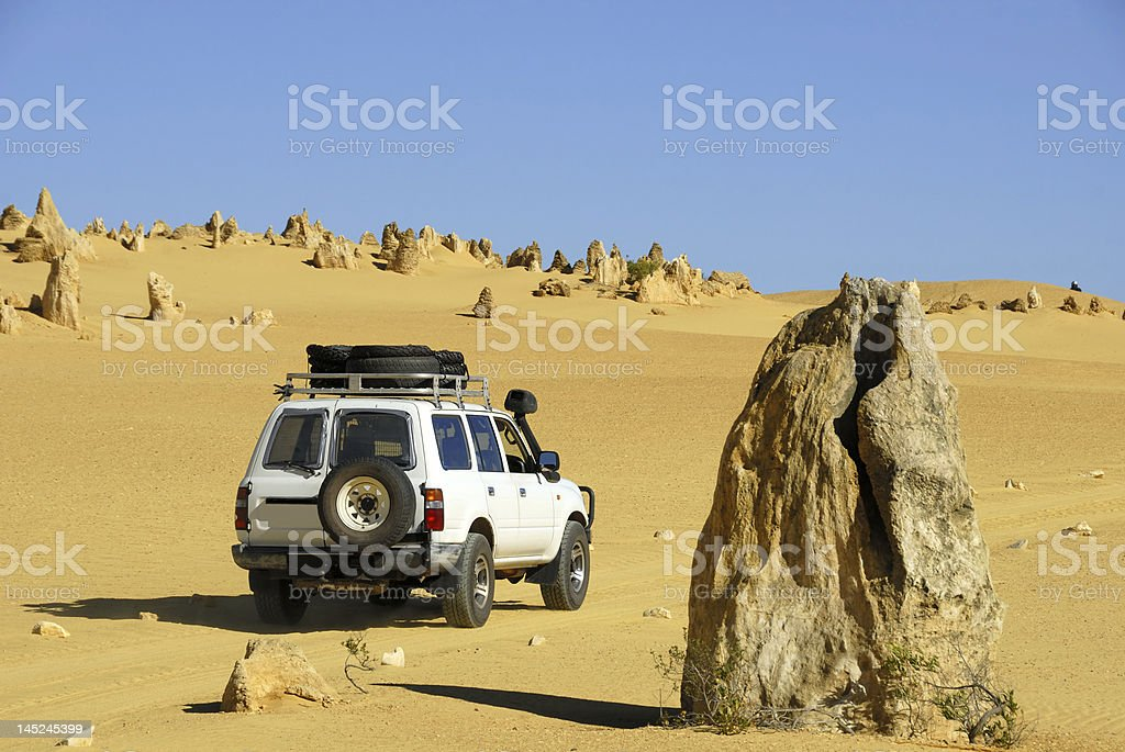 Pinnacles in Australia stock photo
