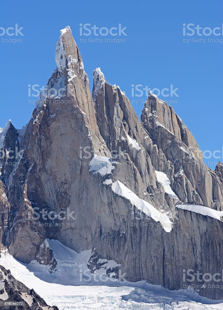 Pinnacles in the Andes stock photo