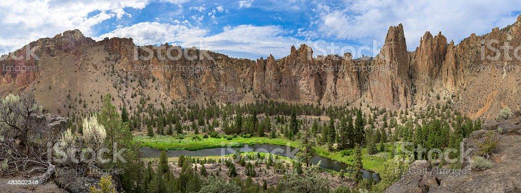 Pinnacles Panorama stock photo