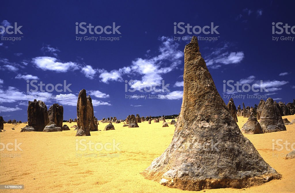 Pinnacles West Australia witches hat royalty-free stock photo