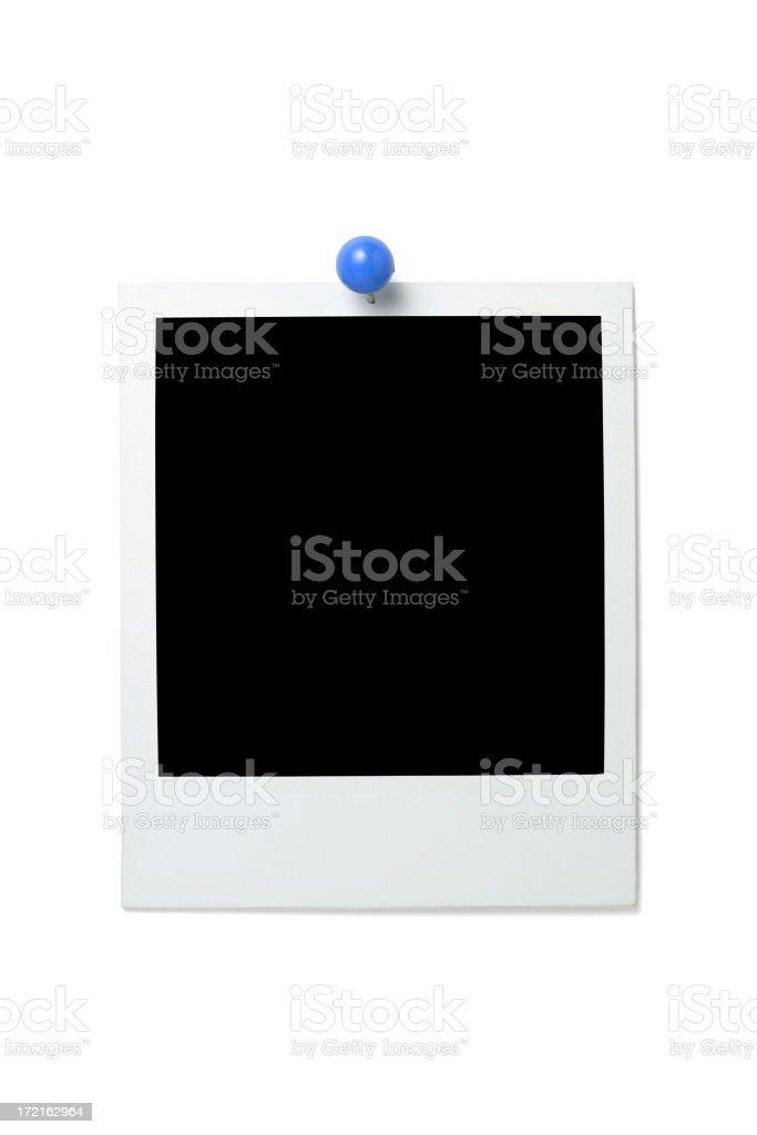 Pinned blank photo royalty-free stock photo