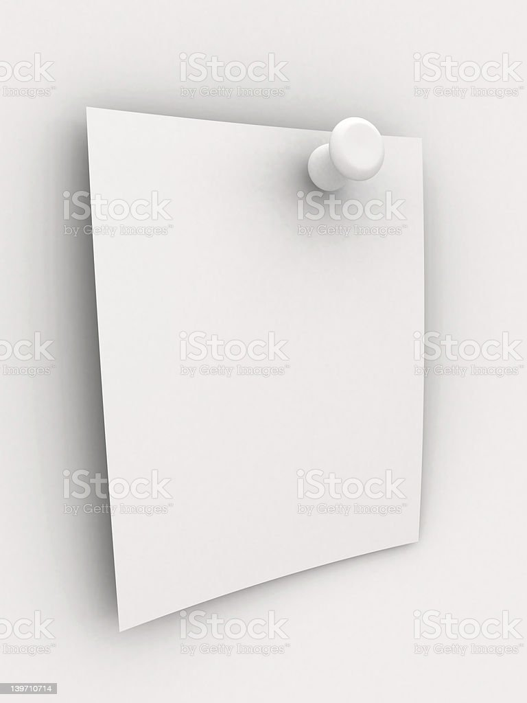 Pinned Note royalty-free stock photo
