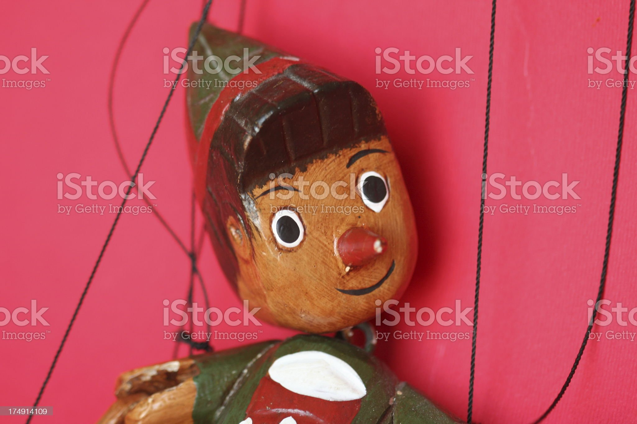Pinocchio face royalty-free stock photo