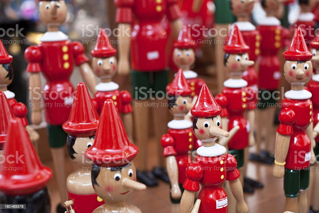 Pinocchio, italian wooden puppet royalty-free stock photo