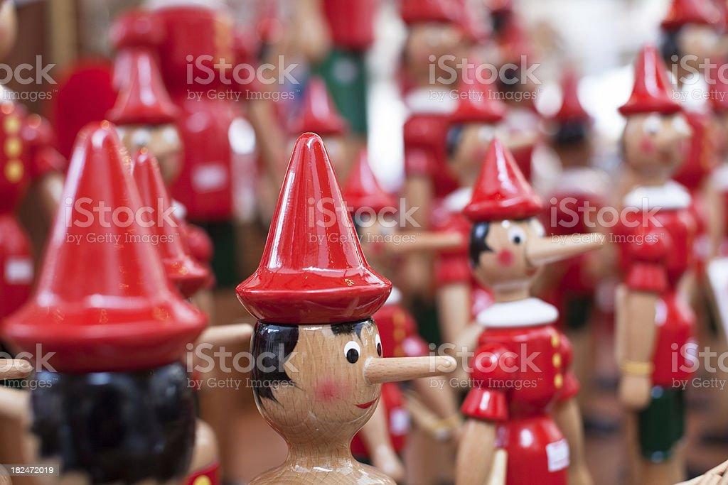 Pinocchio, italian wooden puppet royalty-free stock photo