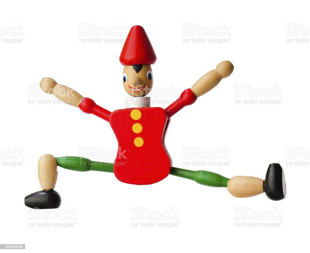 Pinocchio jumping royalty-free stock photo