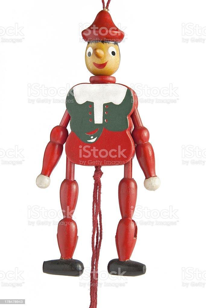 Pinocchio (White background) stock photo