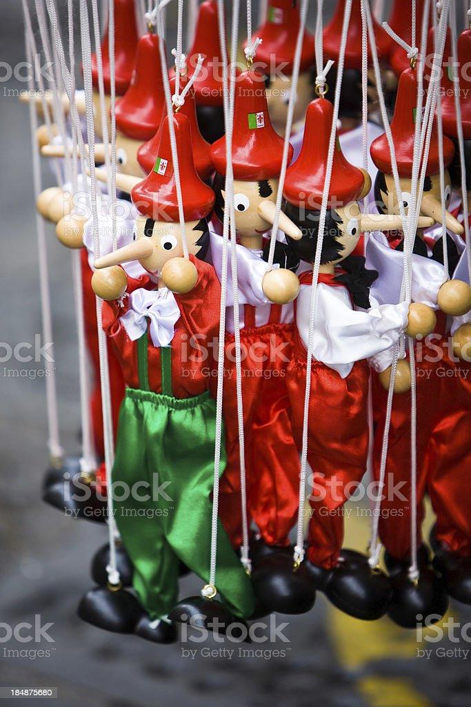 Pinocchio Puppets royalty-free stock photo
