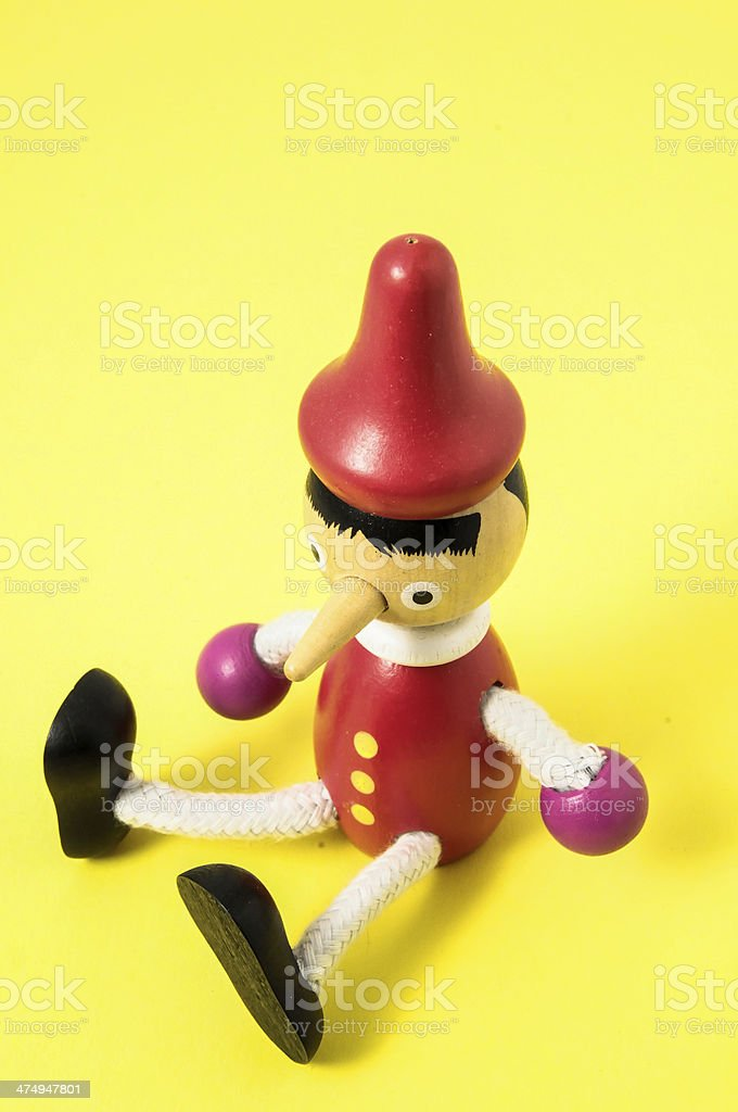 Pinocchio Toy Statue stock photo
