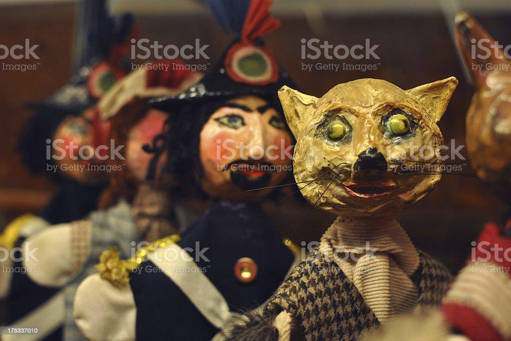 Pinocchio's puppets stock photo