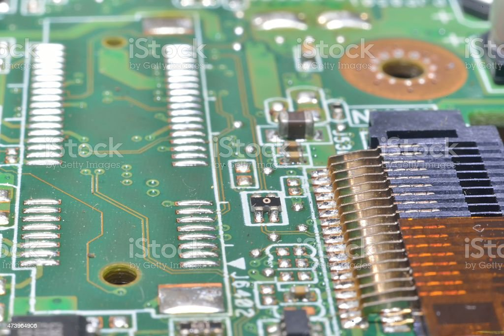 pins and wires on microcontroller stock photo