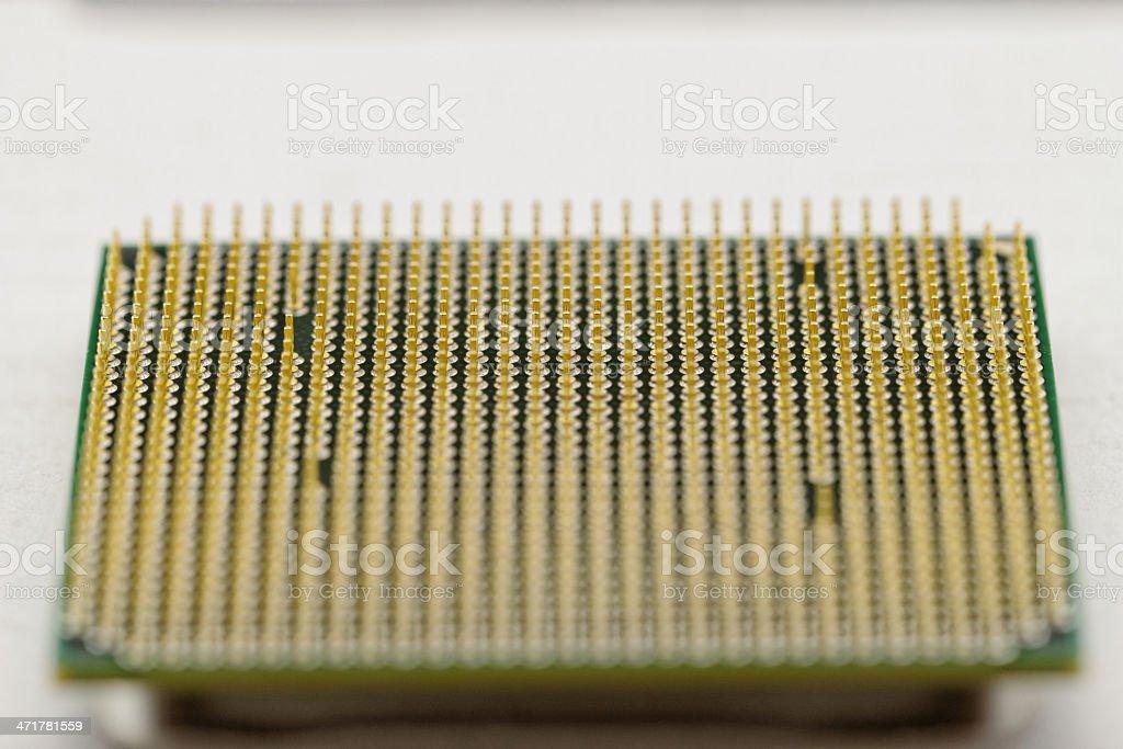 CPU pins closeup image royalty-free stock photo