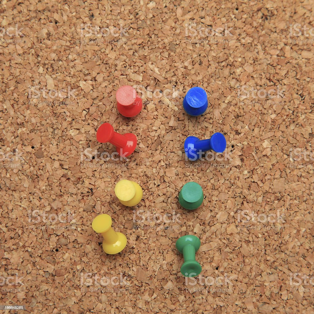 Pins in cork board royalty-free stock photo