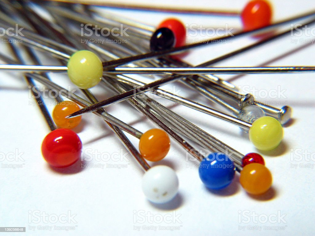 Pins stock photo