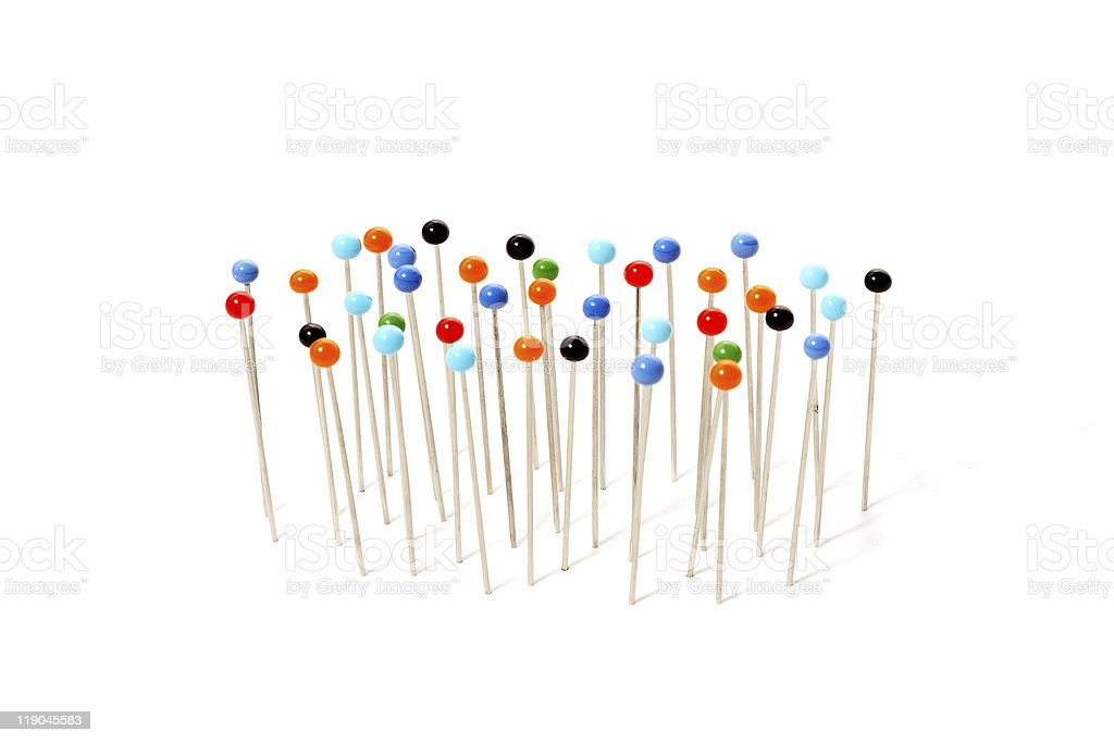 pins with colored heads royalty-free stock photo