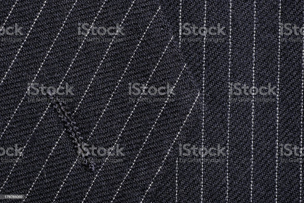 Pinstripe suit button hole stock photo
