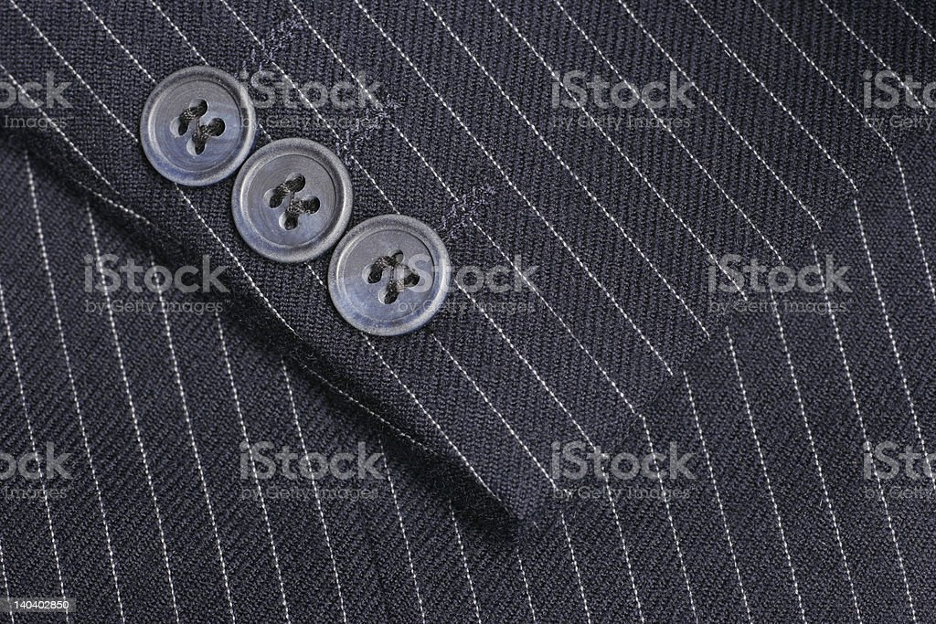 Pinstripe suit cuff stock photo