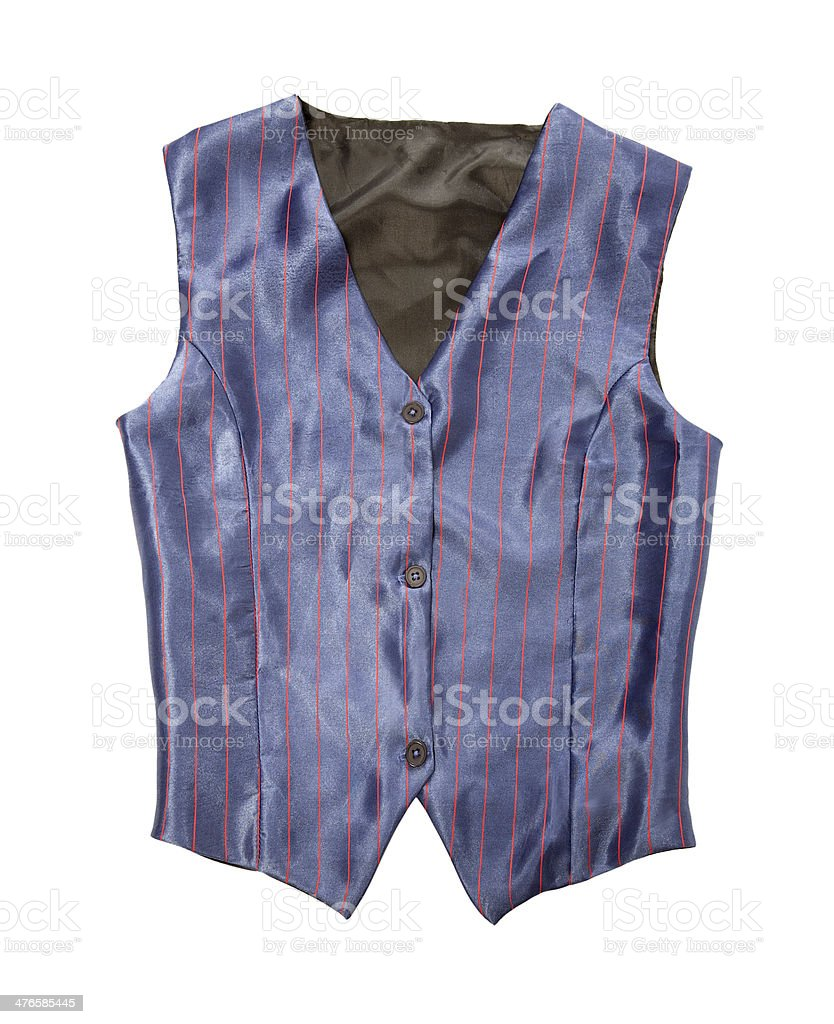 Pinstriped blue vest royalty-free stock photo