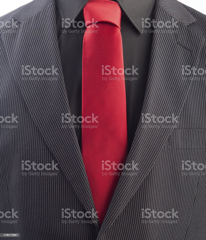 Pinstriped men's business suit royalty-free stock photo
