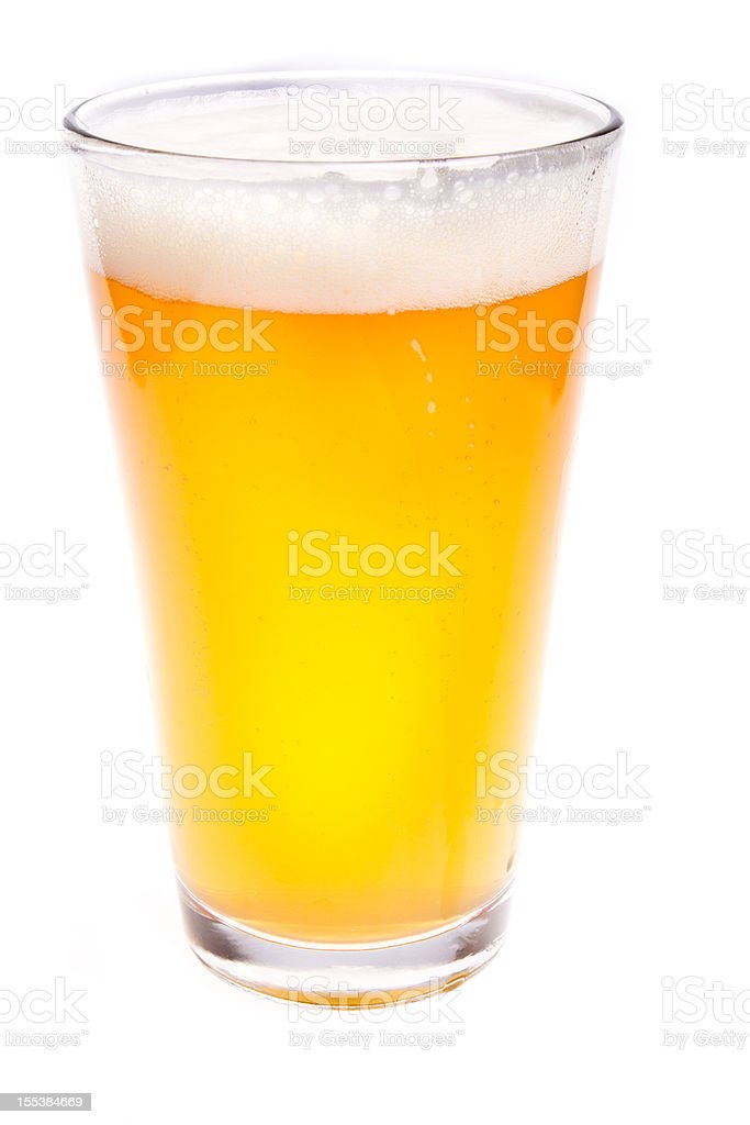 Pint Glass of Beer stock photo