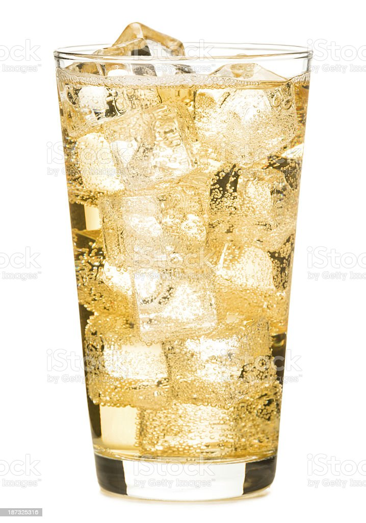 Pint Glass of Ginger Ale Soda stock photo