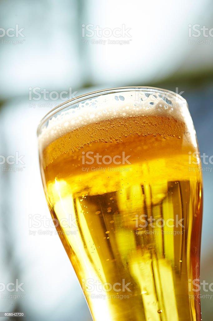 Pint of beer stock photo