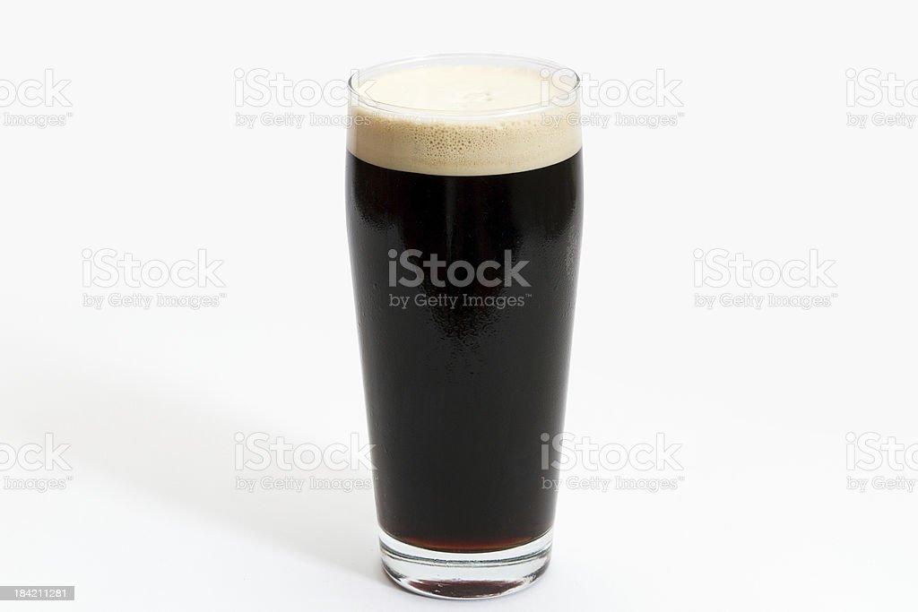 Pint of Draft Irish Stout stock photo