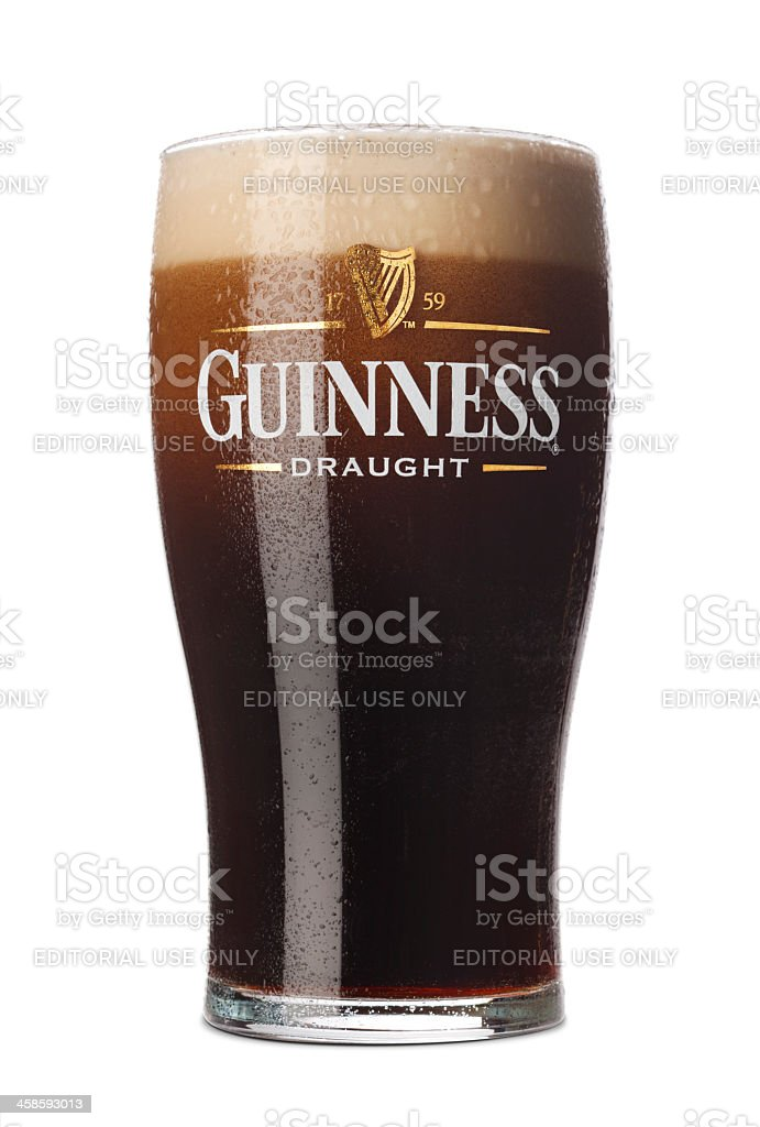 Pint of Guinness stock photo